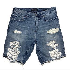 PacSun Comfort Stretch Distressed Bermuda Shorts